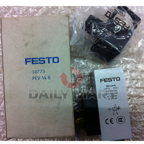 FESTO NEW PEV-1//4-B 10773 PLC Pressure Switch 24VDC Switches