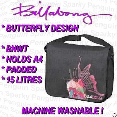 FREE Bag Billabong Cream Butterfly Womens Girls Backpack Rucksack School Bag