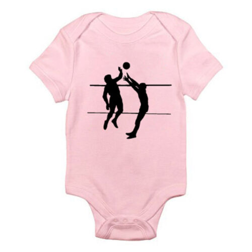 Suit Sports Beach Ball VOLLEYBALL SILHOUETTE Novelty Themed Baby Grow