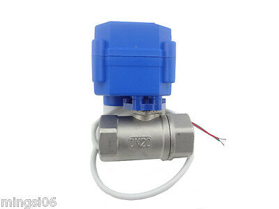 "motorized ball valve G3/4"" DN20(reduce port) 2 way 12VDC CR04,Stainless steel"