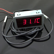 056 Fc 12v Dc Red Led Digital Car Meter Thermometer 55 125c Ds18b20 Sensor
