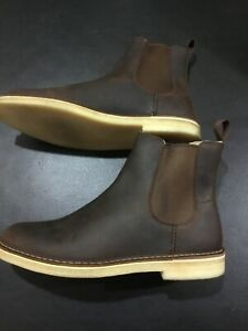 Clarks-Desert-Peak-Boot-Beeswax-Leather-Size-11-5-M-UK-10-5-G-45-Brown