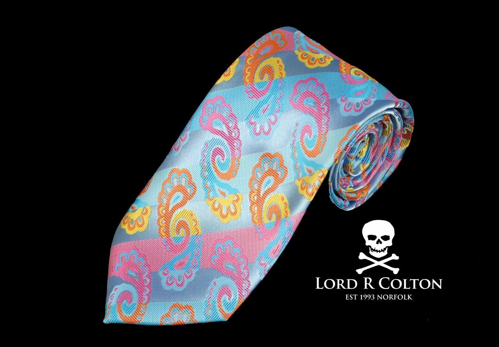 Lord R Colton Colton Colton Masterworks Krawatte - Miami Sky & Korallenrot Seidenkrawatte - | Zürich Online Shop  f6738c