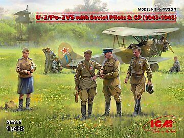 ICM 48254-1:48 U-2//Po-2VS with Soviet Pilots /& GP Neu 1943-1945