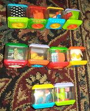 10 Fisher-Price Peek-a-Blocks Audial-Visual-Tactile Development Toys Lot B