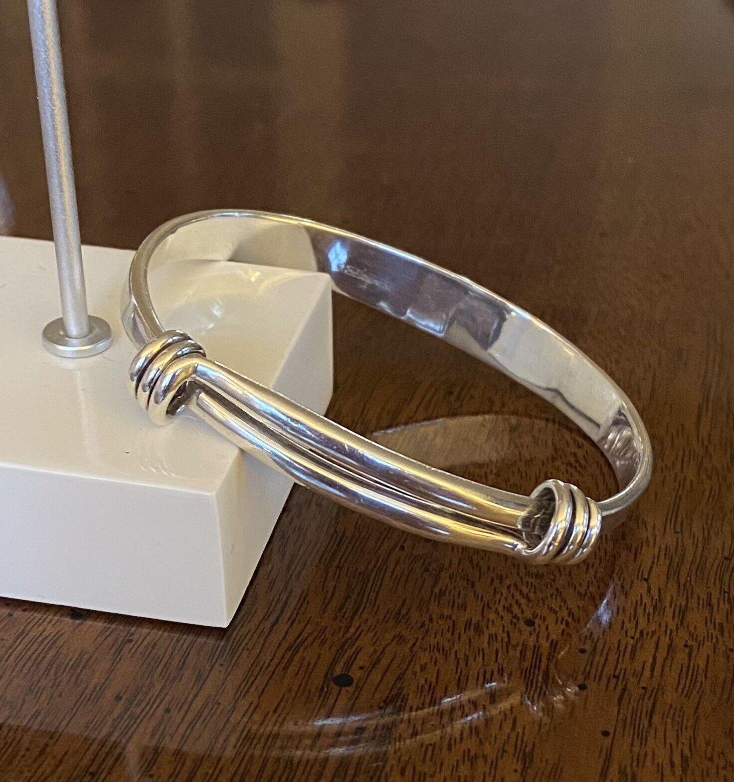 Sterling Silver Adjustable Slide Bracelet Signed    Ed Levin Jewelry More At PianoBarVintage Vintage Ed Levin Gorgeous Amethyst
