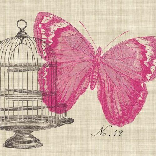 4 x Paper Napkins Ideal for Decoupage //Napkin Art Piedmont Papillon Butterfly