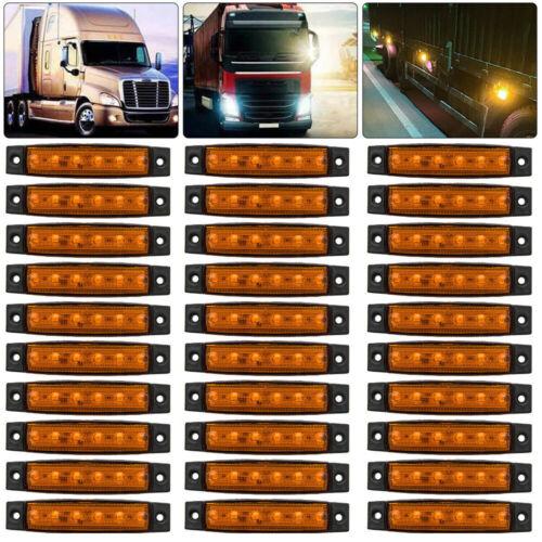 30X 12V 12 Volt SMD 6 LED Amber//Orange Side Marker Light Trailer Van Bus