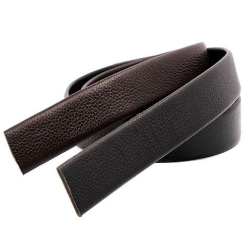 "New quality Mens belt Genuine Leather Belt No Buckle Waist Strap waist 30/""-44/"""
