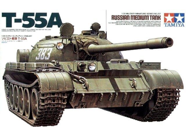 1:35 TAMIYA KIT CARRO ARMATO RUSSIAN MEDIUM TANK T-55A     ART 35257