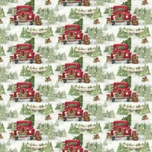 CHRISTMAS TREE FARM SNOWFLAKES SNOW FABRIC NO. 13 | eBay