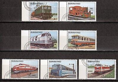 O PüNktlich Burkina Faso 1043-49 Lokomotiven üBerlegene Materialien