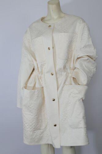 BALENCIAGA White Embroidered Silk Fabric Pocket Mi