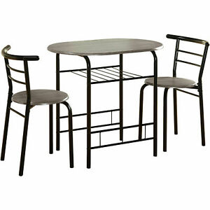Small Bistro Set Indoor Kitchen Round Dining Table 2 Chairs For