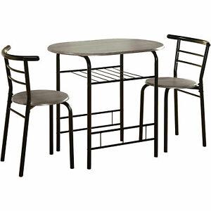 Small Bistro Set Indoor Kitchen Round Dining Table u0026 2 Chairs  sc 1 st  eBay & Small Bistro Set Indoor Kitchen Round Dining Table u0026 2 Chairs for ...