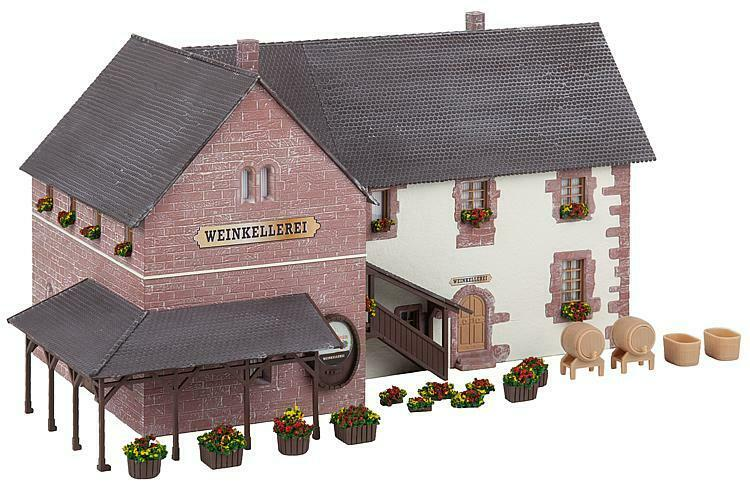 HO Faller 130611 Old Time WINERY BUILDING with Accessory Details KIT