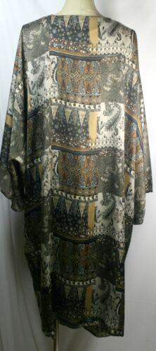 Plus size long kimono cardigan,shamoz silk,checks,quilt print,brown,blue,green