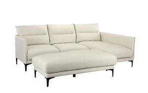 Image Is Loading Mid Century Sectional Sofa Leather L Shape Couch