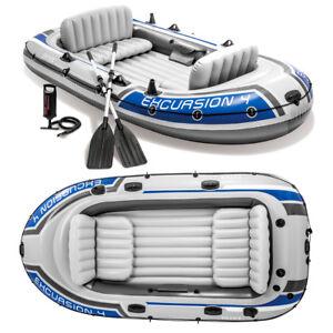 schlauchboot set excursion 4 paddel pumpe angelboot. Black Bedroom Furniture Sets. Home Design Ideas
