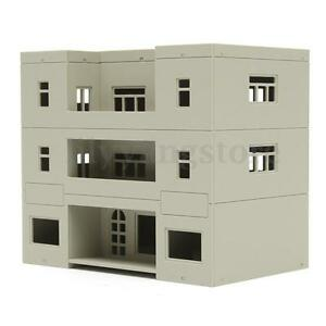 HO-Scale-building-Apartment-Building-1-100-For-HO-Gauge-Model-Train-Layout-B