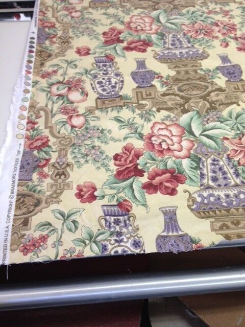Braemore floral print on cotton fabric by the yard drapery pillows