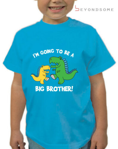BOYS I/'M GOING TO BE A BIG BROTHER DINOSAUR T-SHIRT CHILDENS T SHIRT SHOWER