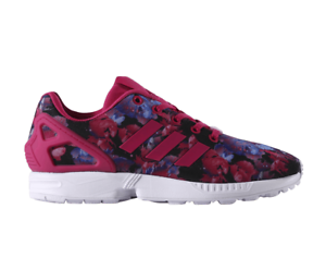 Adidas-Womens-Girls-ZX-Flux-J-Trainers-Shoes-Floral-Print-BB2878-034-034-034-Sold-034-034-034