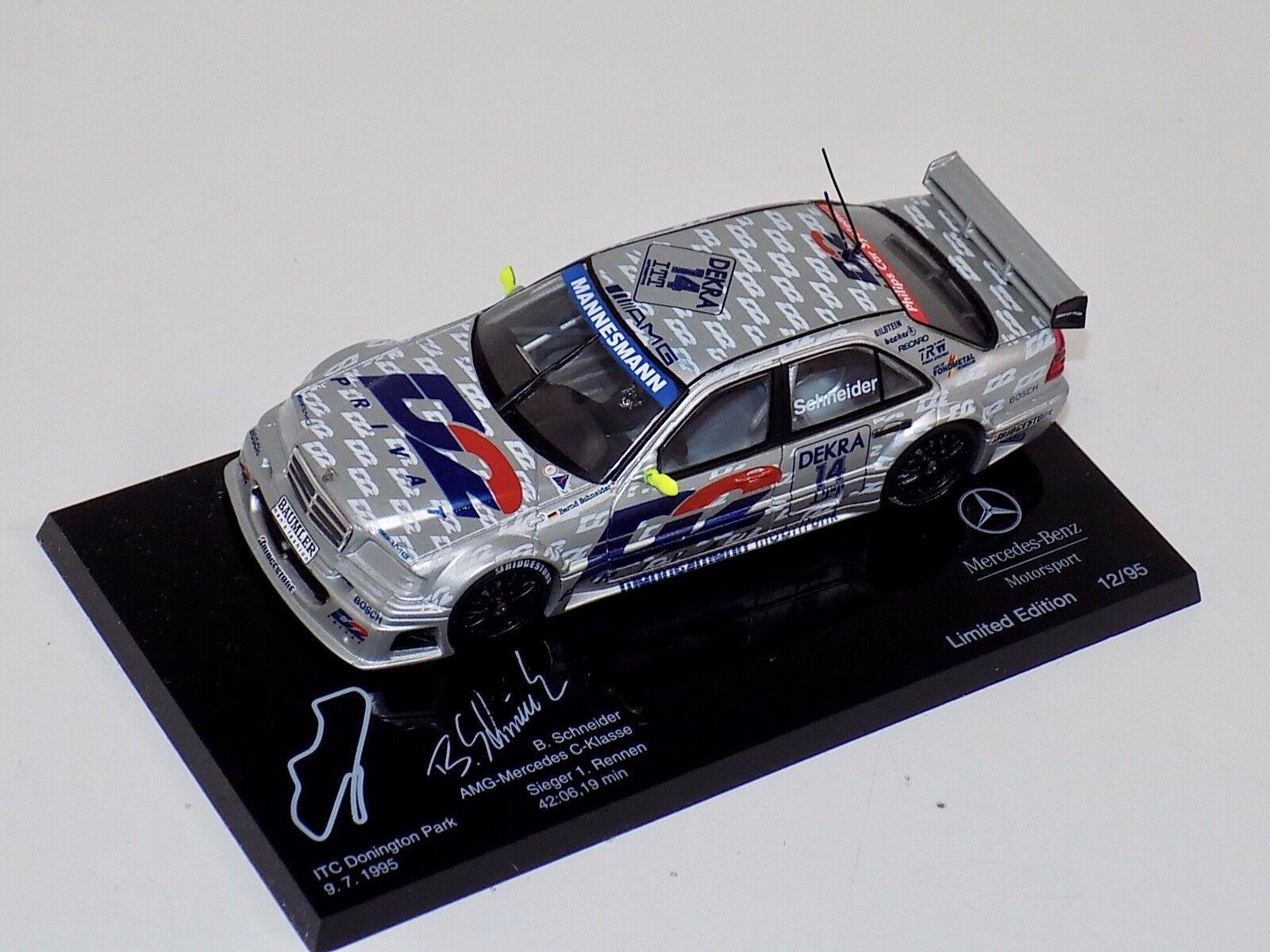 1 43 Minichamps AMG Mercedes C DTM 1995  Die Sieger  SCHNEIDER Donington Park