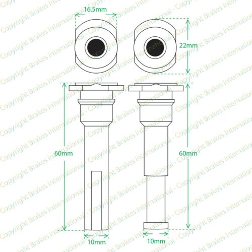 2x frein arrière caliper slider pin kits fits hyundai elantra 1996-2006 BCF1317ZX2