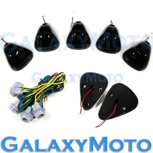 5pcs Cab Roof Maker AMBER LED Lights SMOKE Lens for 02-15 Dodge RAM 1500+2500+35