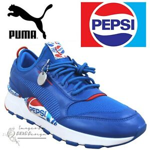 PUMA-x-PEPSI-RS-0-Men-039-s-Blue-Trainers-Retro-Running-Shoes-24Hr-DELIVERY