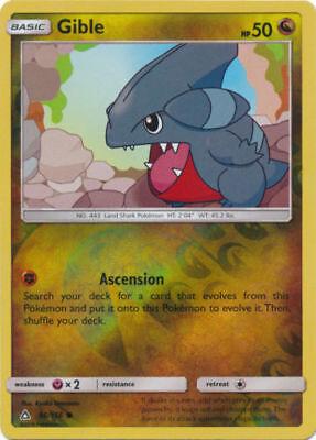 Pokemon GIBLE 97//156 COMMON REVERSE HOLOFOIL MINT CARD  ULTRA PRISM