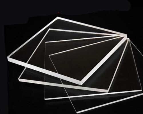 US Stock 2pcs Clear Acrylic Sheets Transparent PMMA Panels 200mm 4mm 200mm