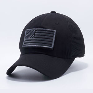 USA American Flag hat Mesh ARMY Tactical Operator Snapback Baseball ... df05a406aea