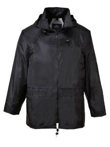 Portwest-US440BKRXL-Classic-Rain-Jacket-Black-Extra-Large