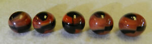 9758m Vintage Marble King Rainbow Brown Cow Marbles .59 to .62 Inches