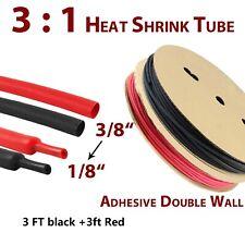38 Heat Shrink Tubing Kit 31 Marine Grade Waterproof Glue Adhesive Dual Wall