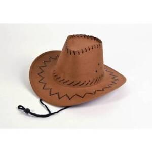 De-Lujo-Ninos-Ninos-Chicos-Vaquero-Marron-Sombrero-Stetson-Vestido-de-fantasia
