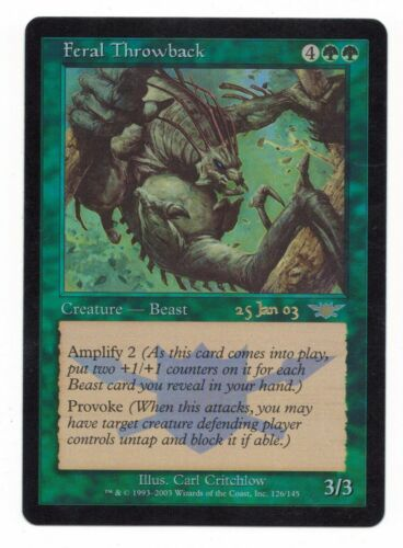 Feral Throwback Foil Legions Prerelease Rare NM Magic The Gathering MTG Card