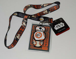 Funko-Star-Wars-BB-8-POP-Episode-7-The-Force-Awakens-Lanyard-PVC-Charm-ID-Holder