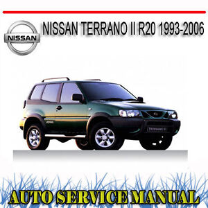 nissan terrano ii r20 1993 2006 workshop service repair manual dvd rh ebay com au nissan terrano 2 service manual nissan terrano 2 repair manual pdf
