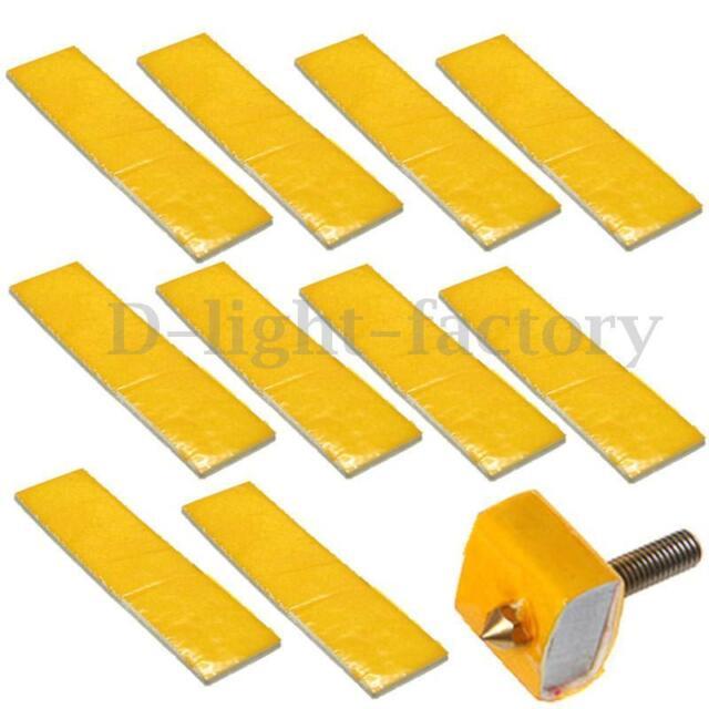 10PCS 2.5mm thick 3d printer heating block cotton hotend nozzle heat insulation