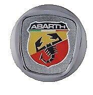 4 Tappi Coprimozzo ABARTH FIAT 500 595 695 SS GRANDE PUNTO Cerchi in Lega 50mm