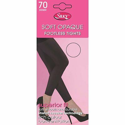 Silky Soft Opaque 70 Denier Footless Tights