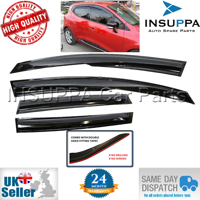 WIND RAIN SUN SMOKE DEFLECTORS 4PCS FOR RENAULT SYMBOL MK3 SEDAN SALOON 2013 ON