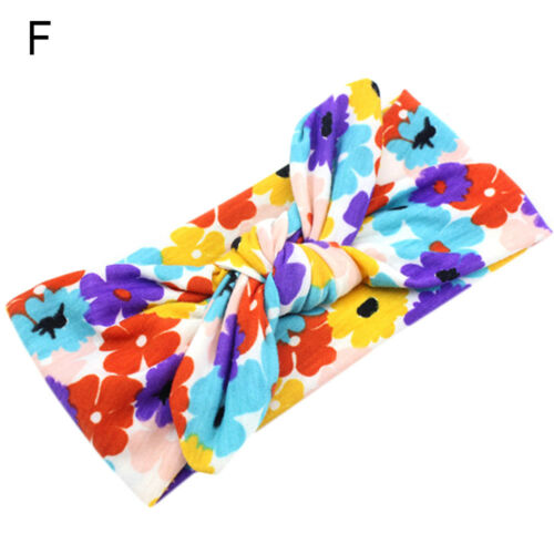 Baby Girls Kids Toddler Bow Hairband Bandeau Extensible Turban Knot Head Wrap New