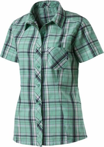 McKinley Femmes Décontracté Wanderhemd carreau-Chemise respiration Active chemisier Aru Vert