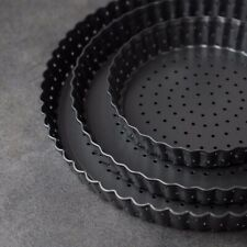 5/8/9'' Perforated Pizza Pans Nonstick Mould Cook Baking Tool Removable Bottom