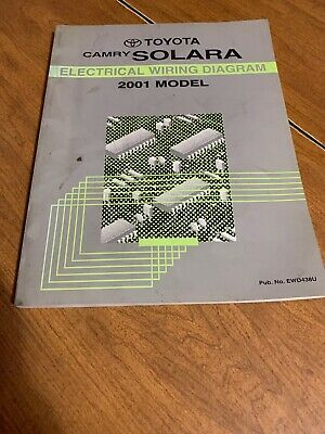 2001 toyota camry solara electrical wiring diagram manual coupe convertible  sle  ebay