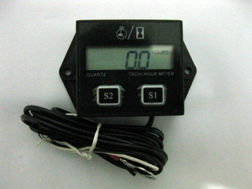 Hour meter tach tachometer boat outboard mercury yamaha 2 /& 4 stroke gas engine